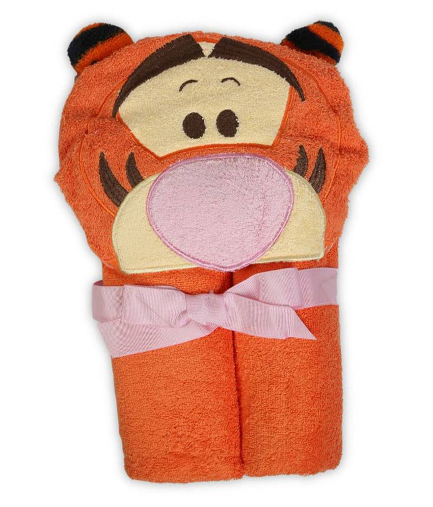 Baby Oodles Orange Cotton Bath Towels 1 Piece