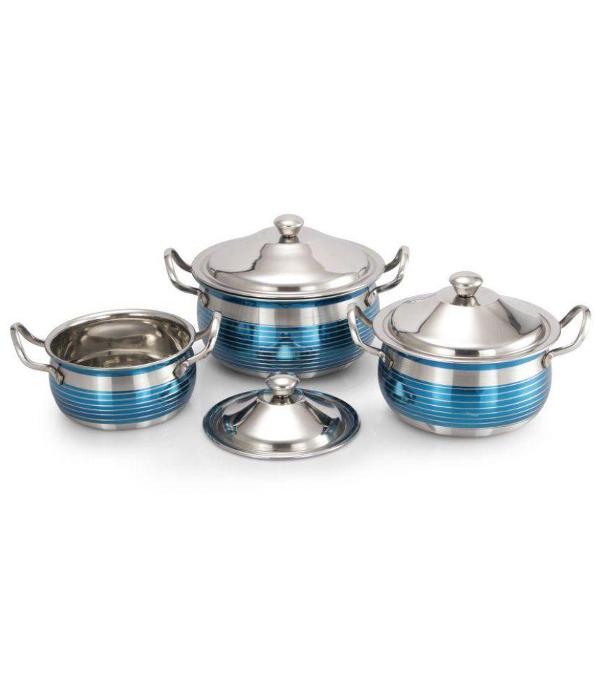Mahavir Enamle Cookware Set 3 Cook n Serve Casseroles