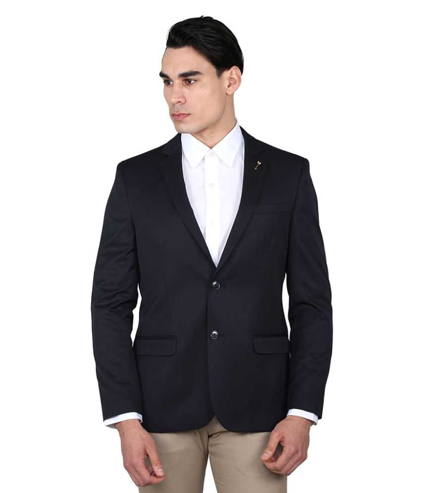 Arrow Navy Solid Casual Blazers