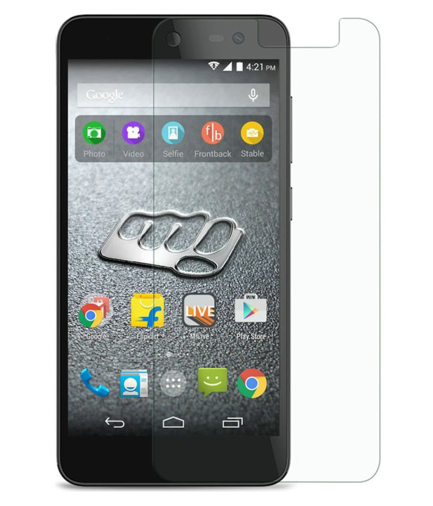 Micromax Canvas Pace 4G Tempered Glass Screen Guard By Tempered glass hd
