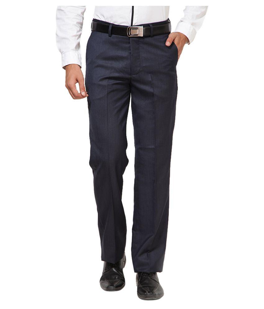 Turtle Grey Slim Flat Trouser