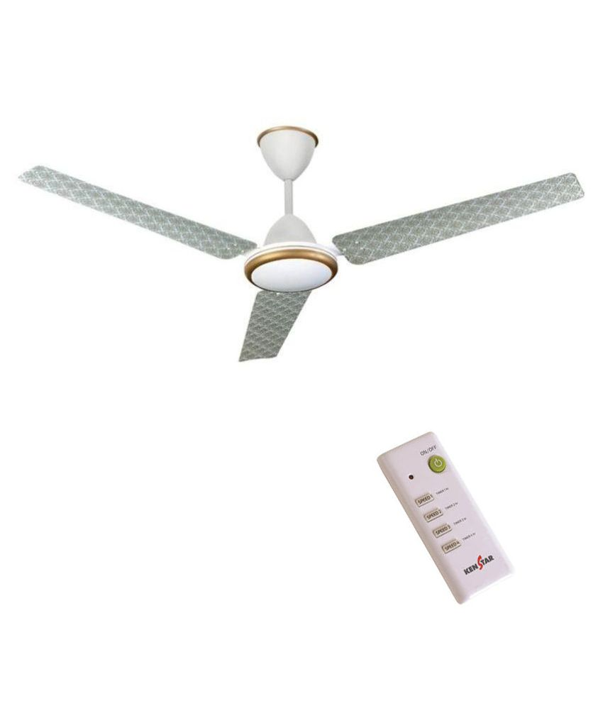 Kenstar 1320 Mm Aria Decor Ceiling Fan White With Remote