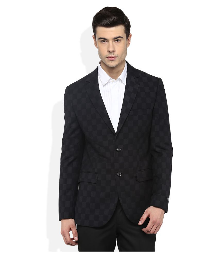 Giovani Black Checks Party Blazers