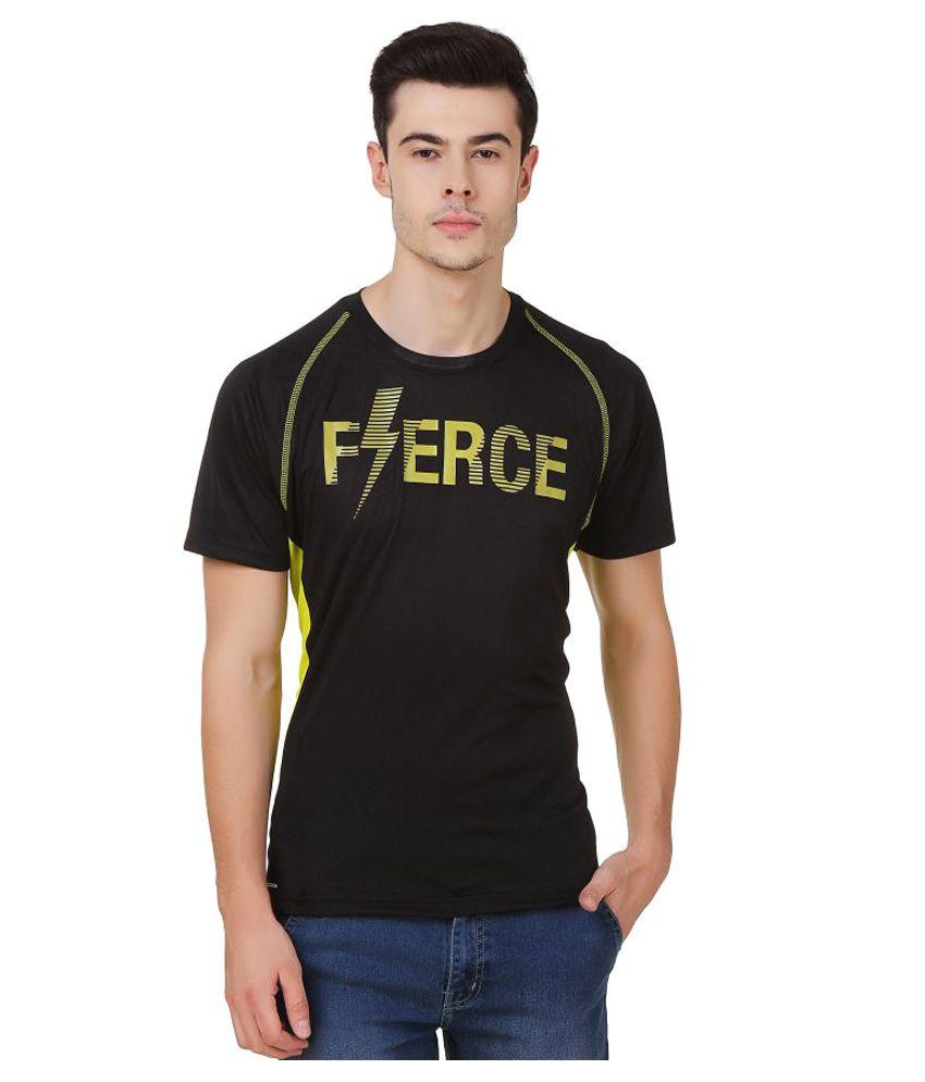 Spunk Black Polyester T-Shirt