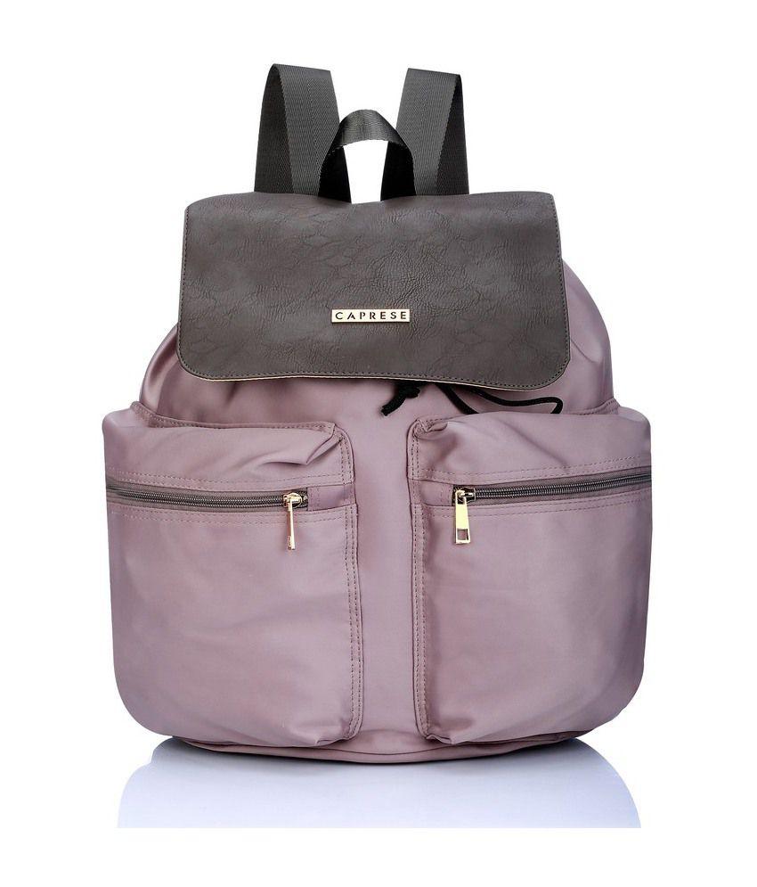 Caprese Peachpuff Nylon Backpack