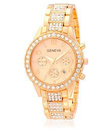 Geneva Collection Rose Gold Analog Watch with Date Function