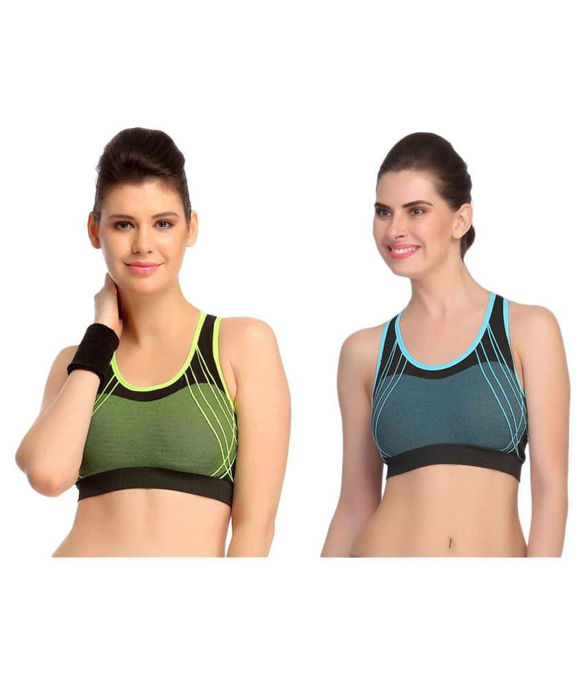 5452b93051f21 Buy Gopalvilla Multi Color Cotton Lycra Sports Bras Online at Best Prices  in India - Snapdeal