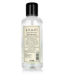 Khadi Natural Khadi Rose Water Pure Rose Water Skin Tonic 210 Ml