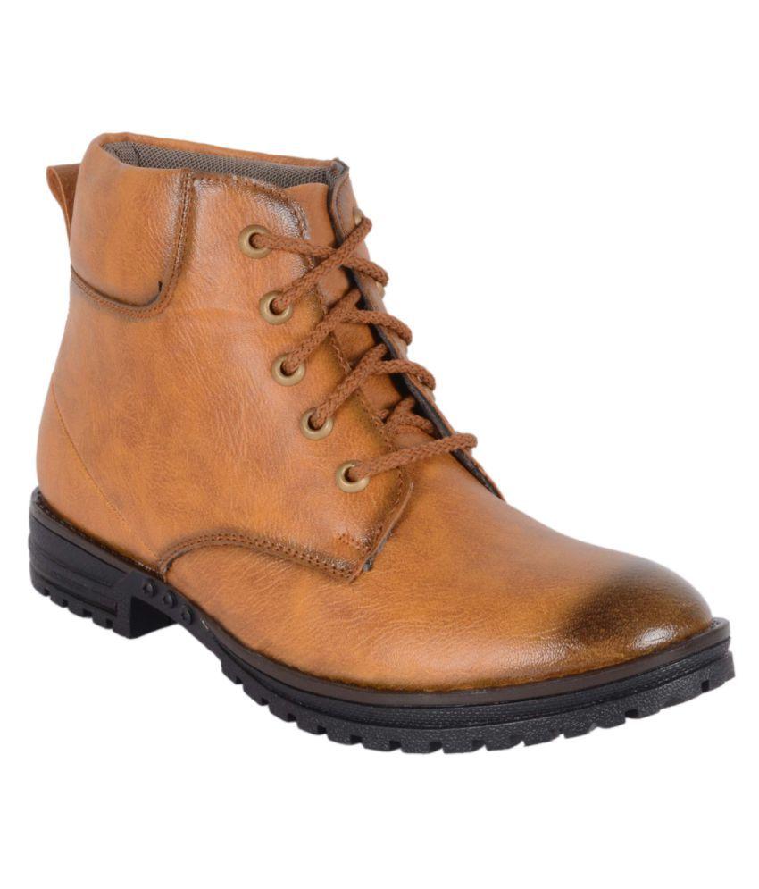 Voochie Tan Casual Boot
