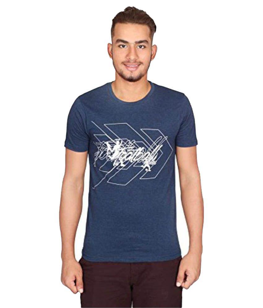 Vector X Navy Cotton Round Neck T-Shirt