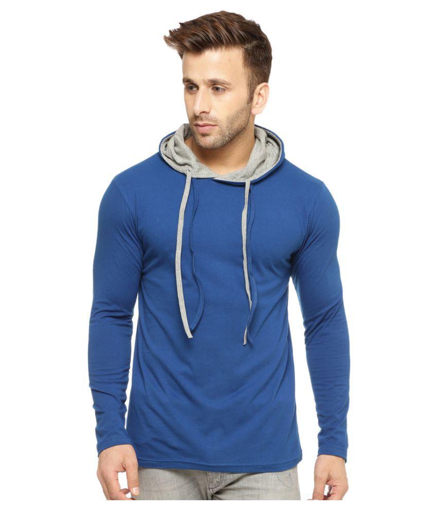Gritstones Blue Hooded T-Shirt
