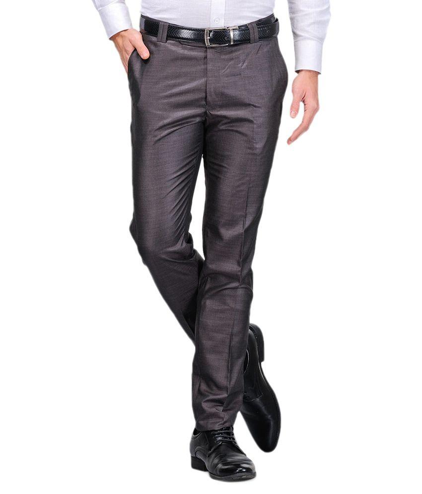 Harvest Grey Slim Flat Trouser