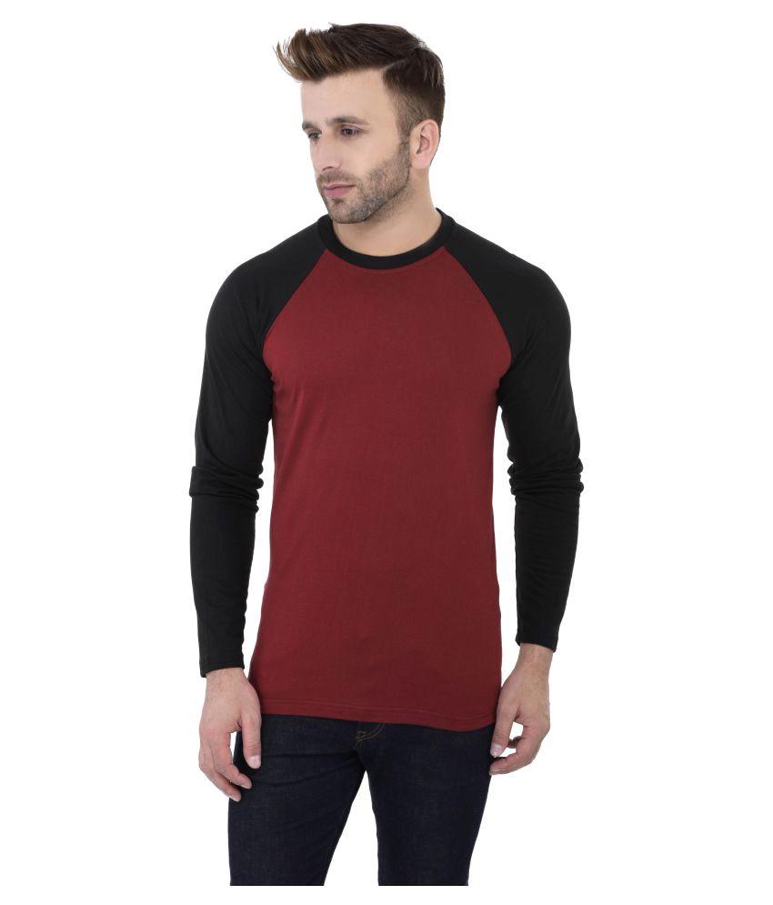 KatsoDesigns Maroon Round T-Shirt
