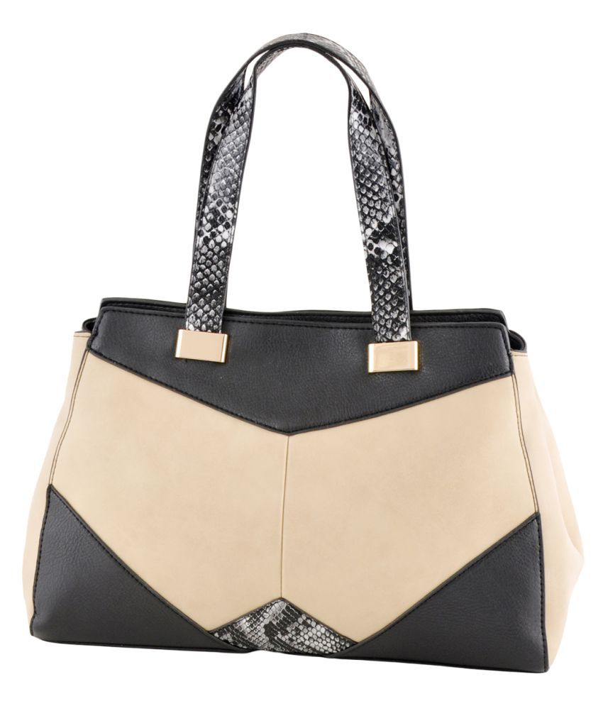 Mark & Keith Beige Faux Leather Handheld
