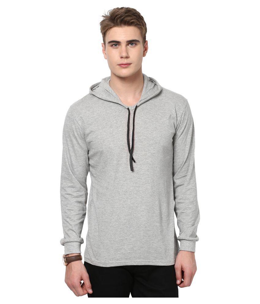 KatsoDesigns Grey Hooded T-Shirt