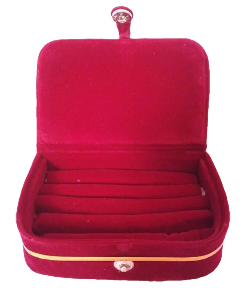 LNC Marron Multipurpose Vanity and Jewellery/Bangle Boxes for Women
