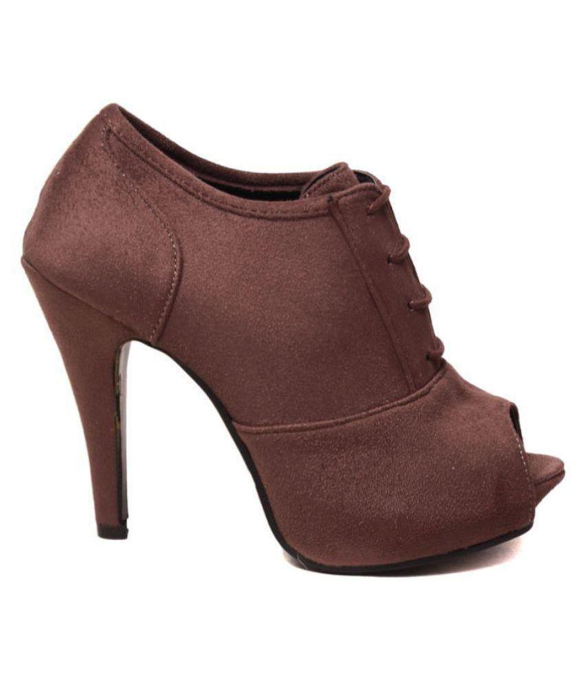 Klaur Melbourne Brown Cone Heels