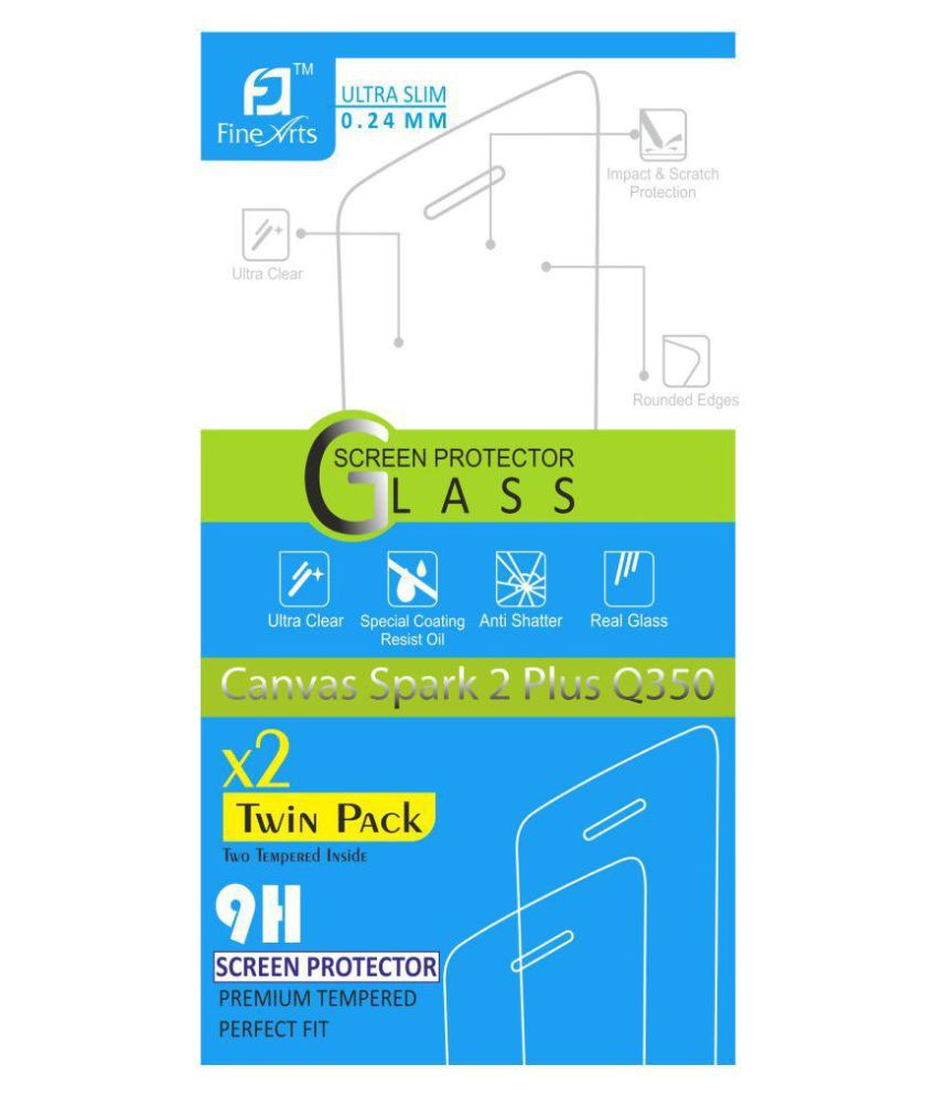 Micromax Canvas Spark 2 Plus Tempered Glass Screen Guard By Anwesha #039;s