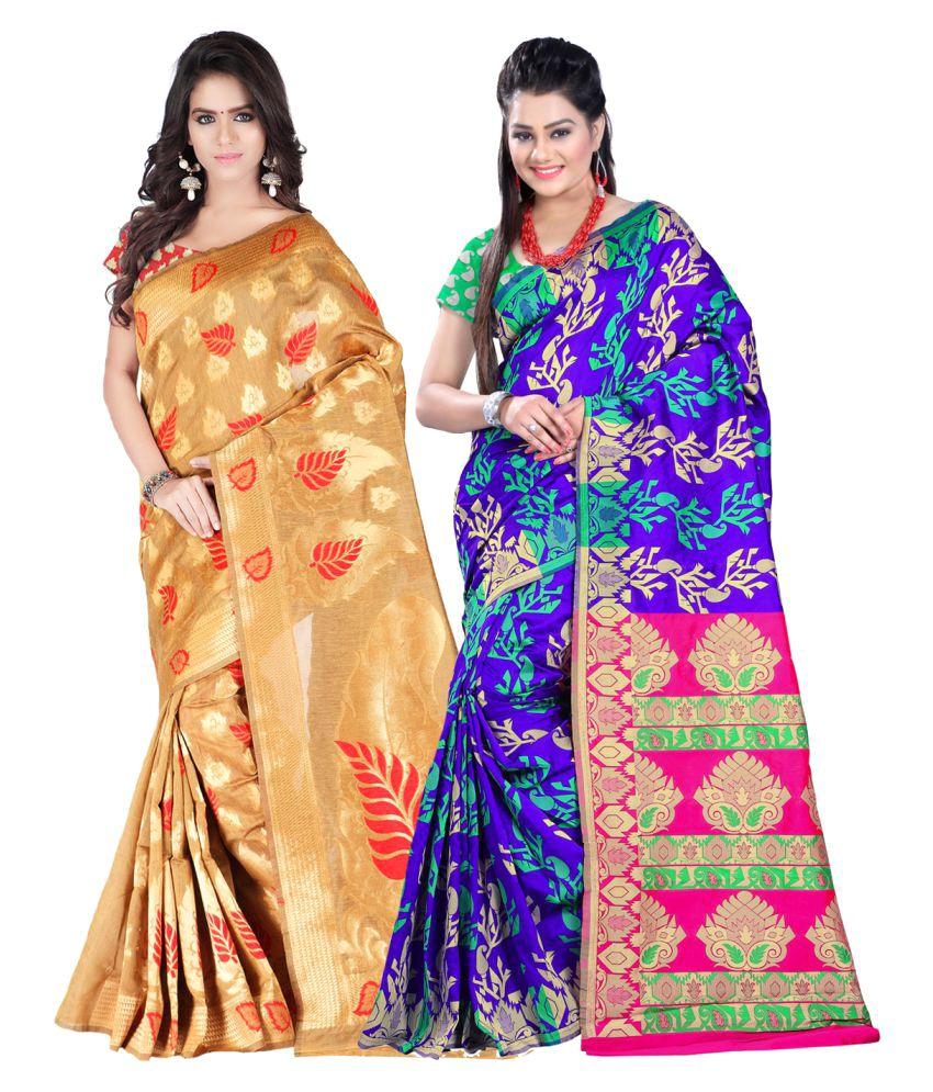 jayant Creation Multicoloured Art Silk Saree Combos