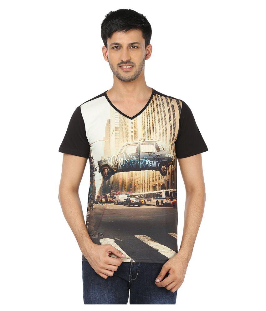 Black Unicorn Multi V-neck T-Shirt