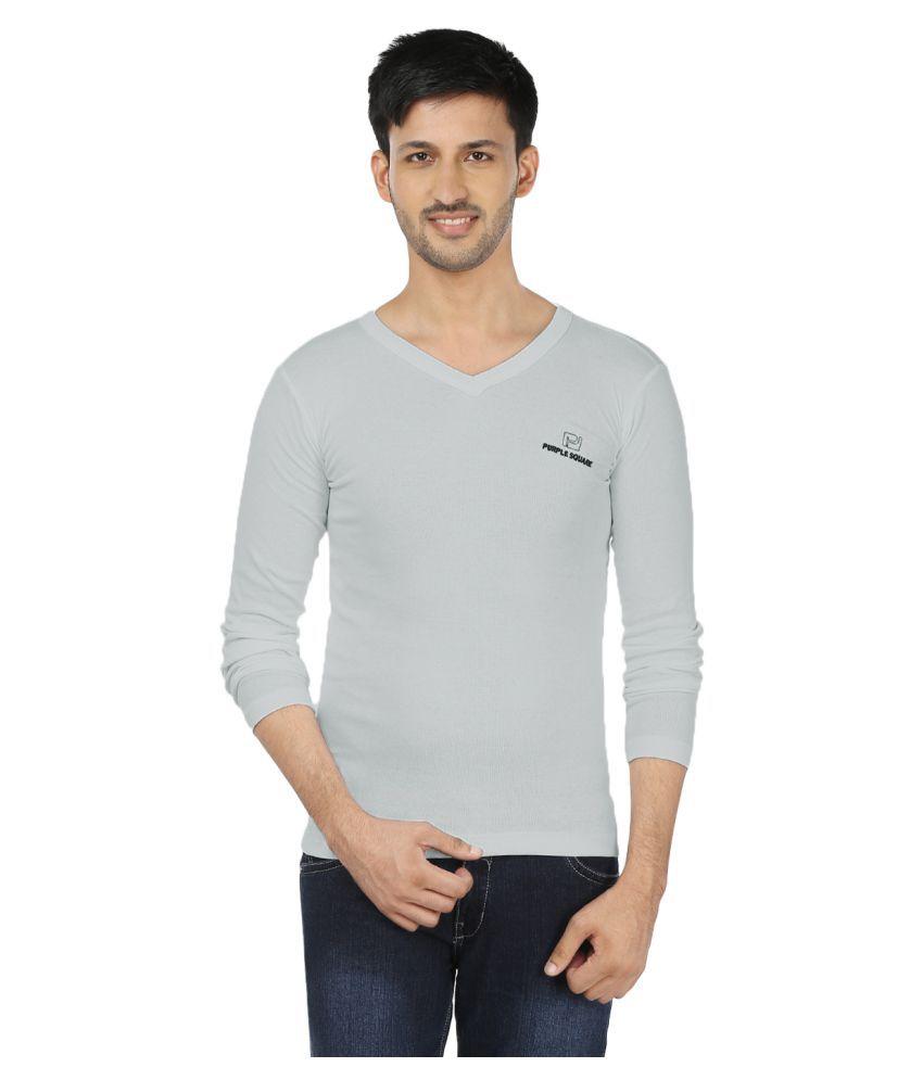 Black Unicorn Grey V-Neck T-Shirt