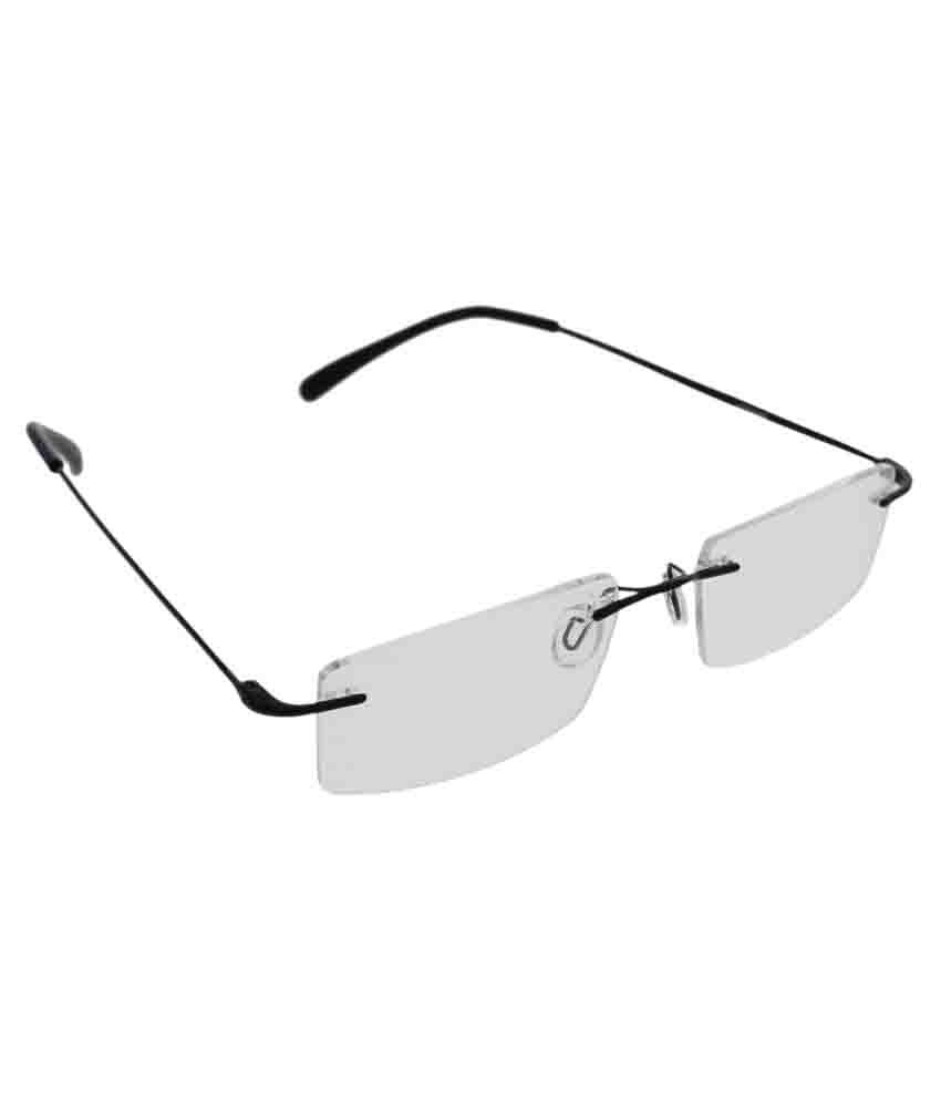 Vast Clear Rectangle Sunglasses ( FRAMEVS_RIMLESS_76127_BLACK )