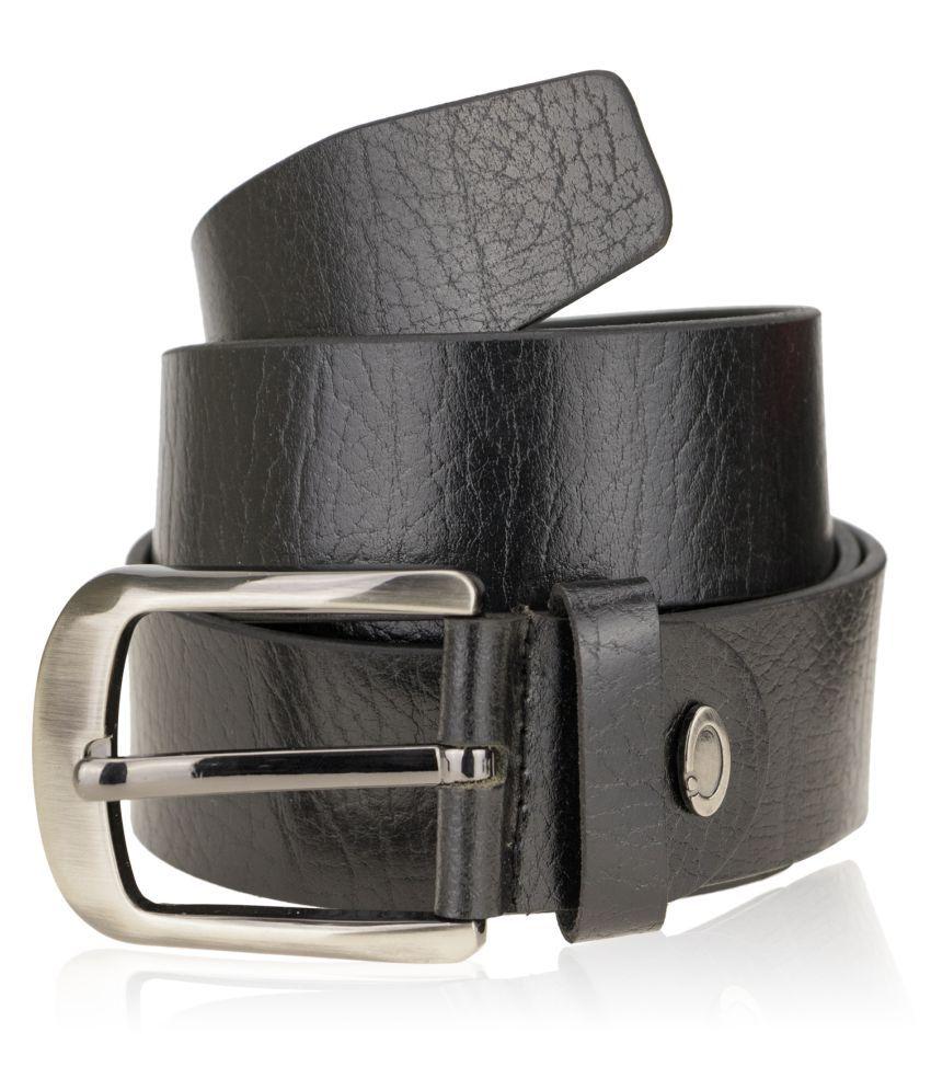 Zeva Black Leather Formal Belts