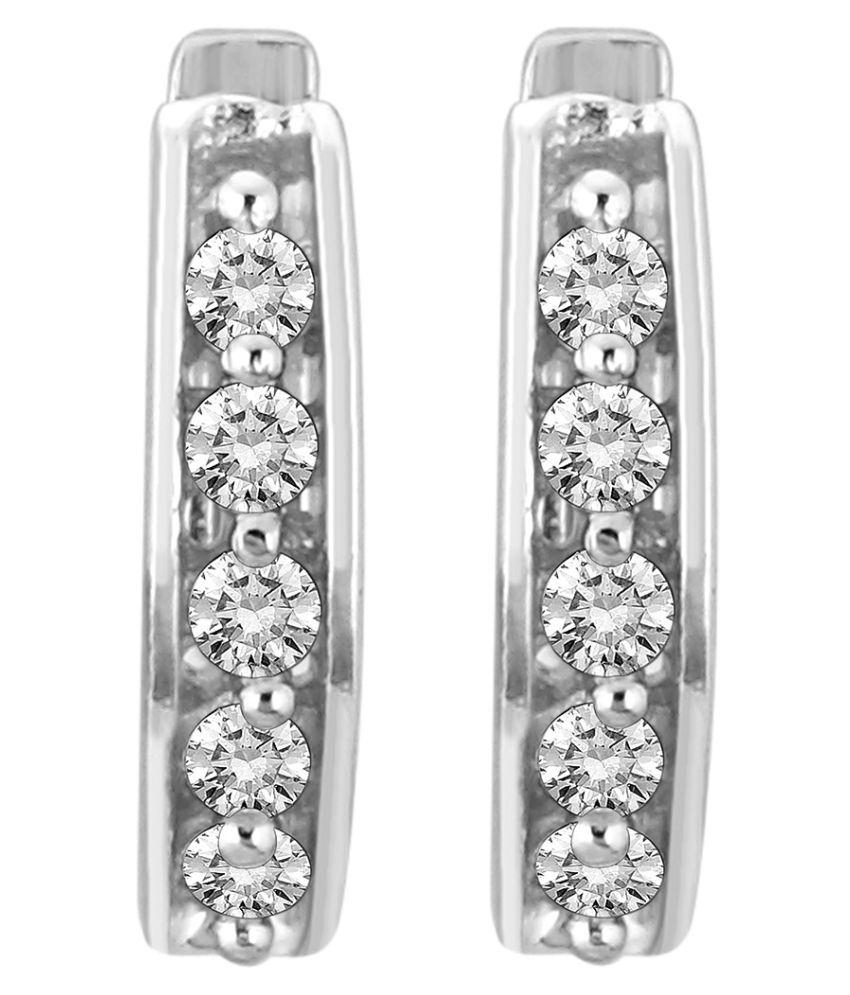 Myzevar 18K Gold Diamond Huggies