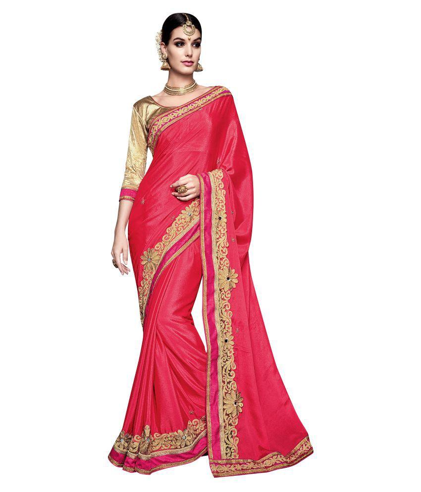 Shonaya Pink Chiffon Saree