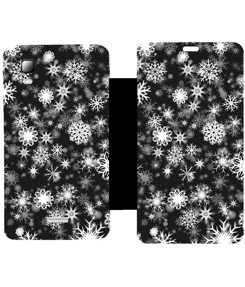 Micromax Canvas Doodle 3 A102 Flip Cover by Skintice - Black