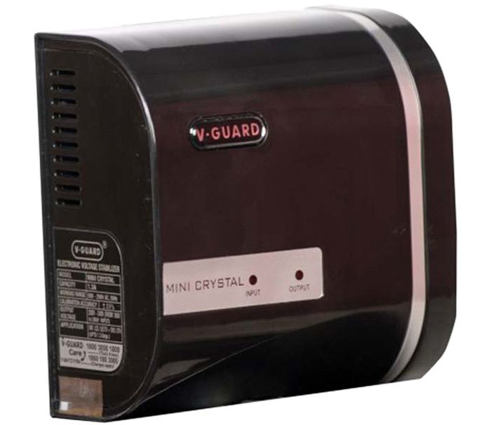 V Guard MINI CRYSTAL Voltage Stabilizer  Black