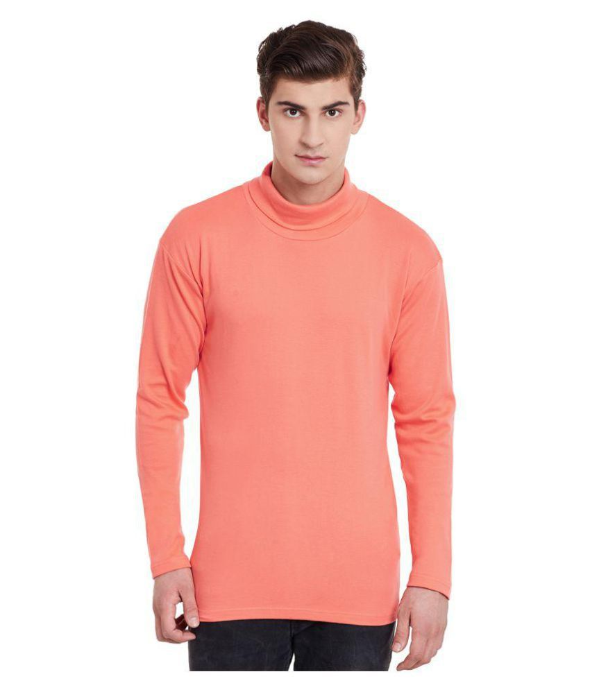 Hypernation Peach High Neck T-Shirt