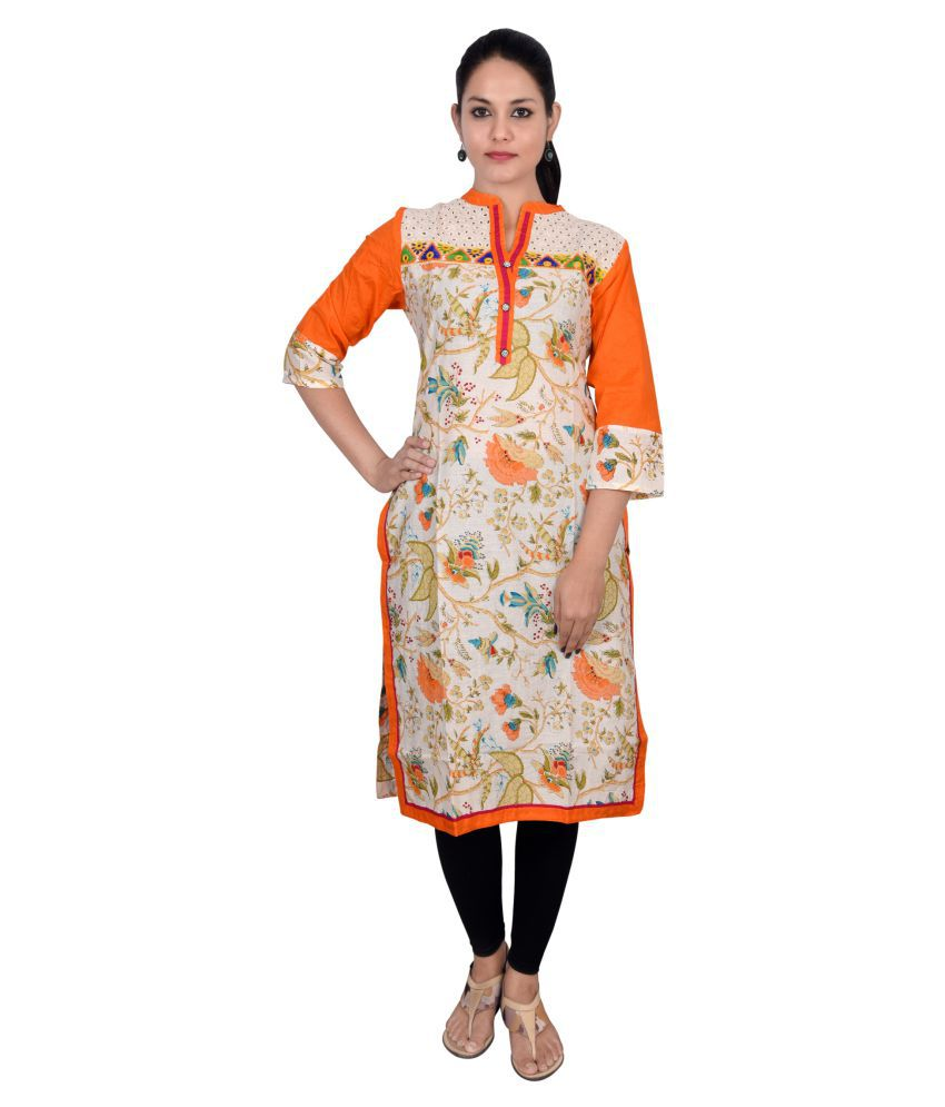 Magnus Multicoloured Cotton A-line Kurti
