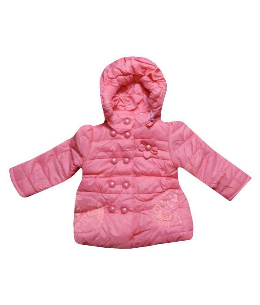 Assent Store Pink Polyester Quilted Jacket