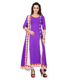The Four Hundred Purple Georgette Dress Material