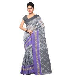 Varkala Silk Sarees Grey Chanderi Saree