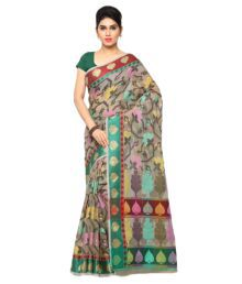 Varkala Silk Sarees Multicoloured Chanderi Saree - 679726599738