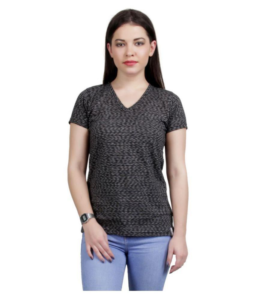 Buy areena black cotton t shirts online at best prices in for Best place to buy t shirts online