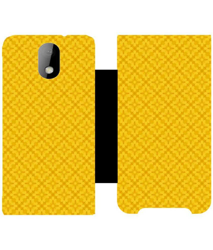 HTC Desire 326G Flip Cover by Skintice - Yellow