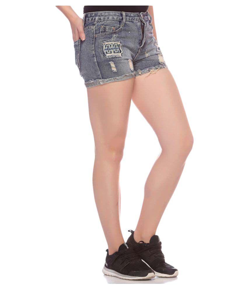 9709bcc43f6 Buy Fasnoya Gray Denim Hot Pants Online at Best Prices in India ...