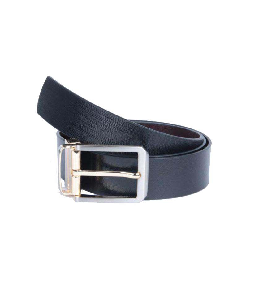 Prug Black Leather Formal Belts