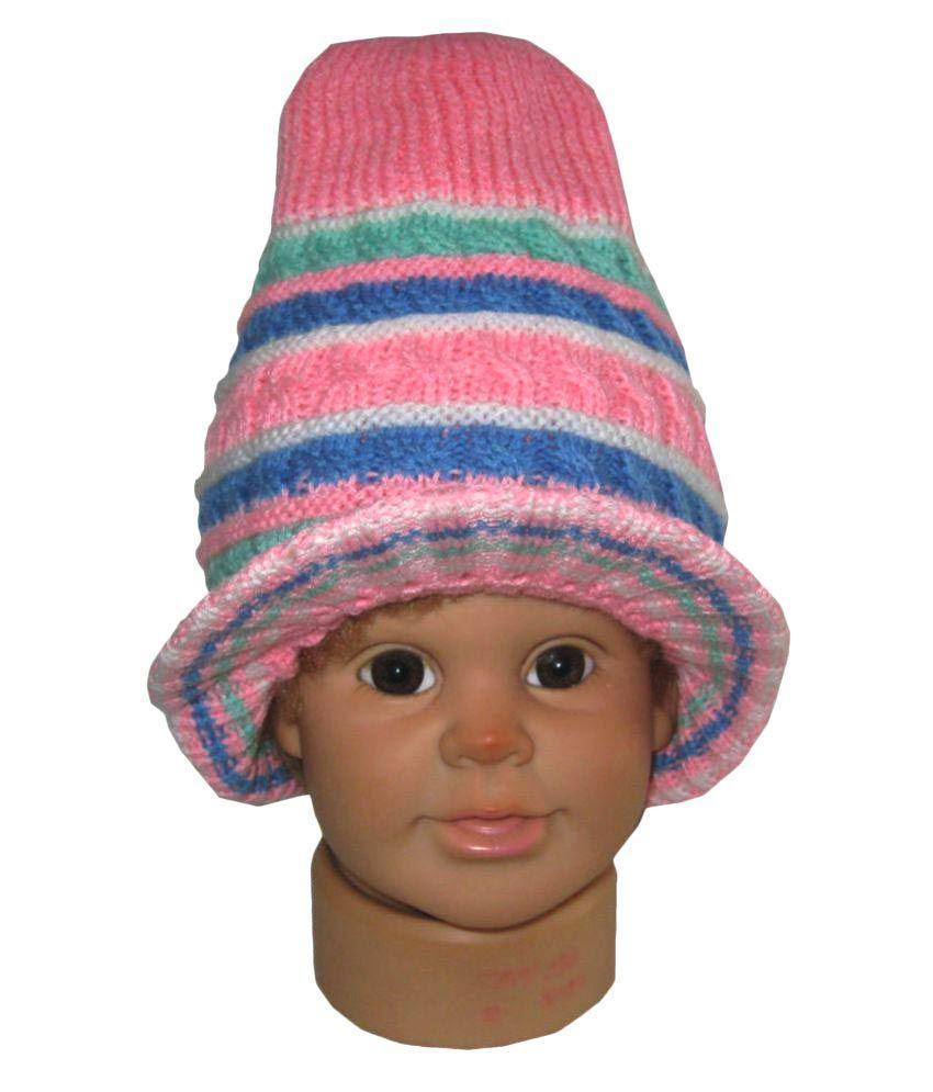 Goodluck Multicolor Woollen Winter Cap