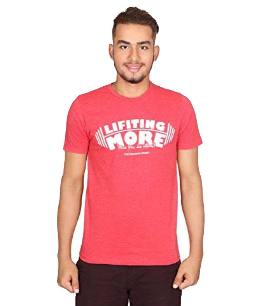 Vector X Red Cotton Round Neck T-Shirt