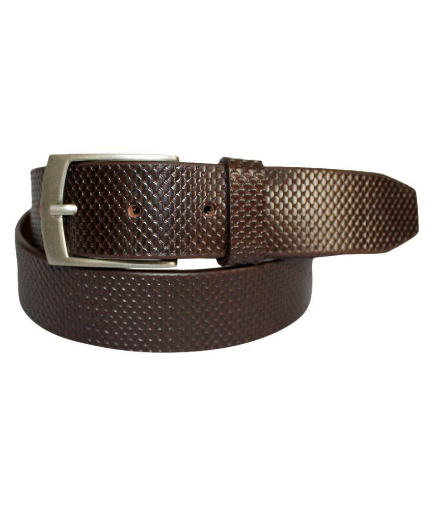 Fedrigo Brown Leather Formal Belts