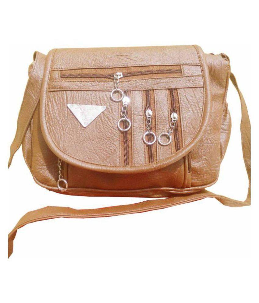 Rapid Costore Brown Artificial Leather Sling Bag