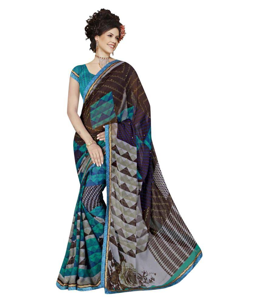 Lexsus Fashion Multicoloured Georgette Saree