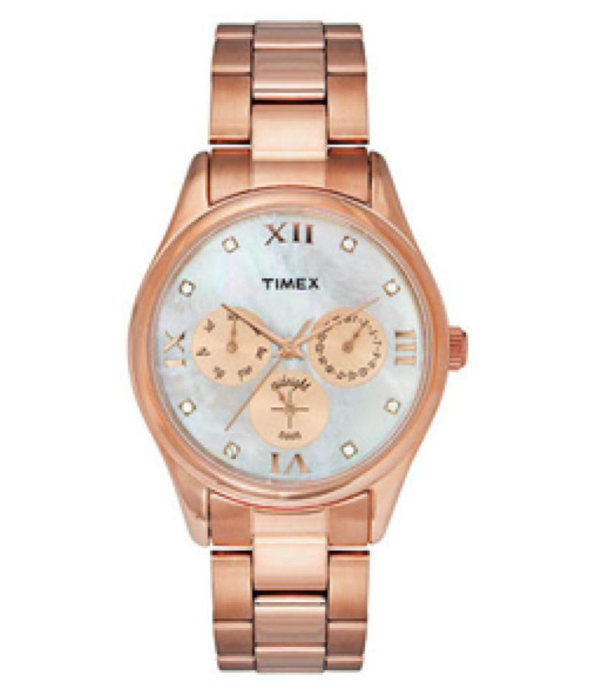 6ddd9359299dd Timex Rose Gold Women s Watch TW000W208 Price in India  Buy Timex Rose Gold  Women s Watch TW000W208 Online at Snapdeal