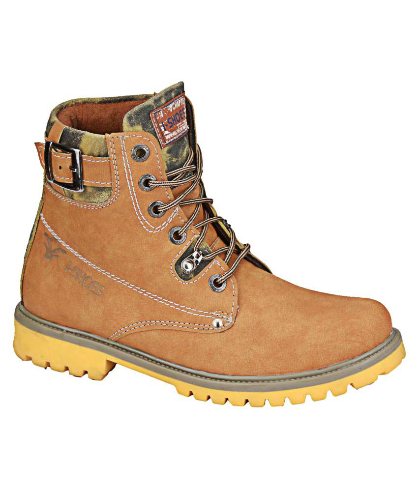 Wave Walk Yellow Casual Boot