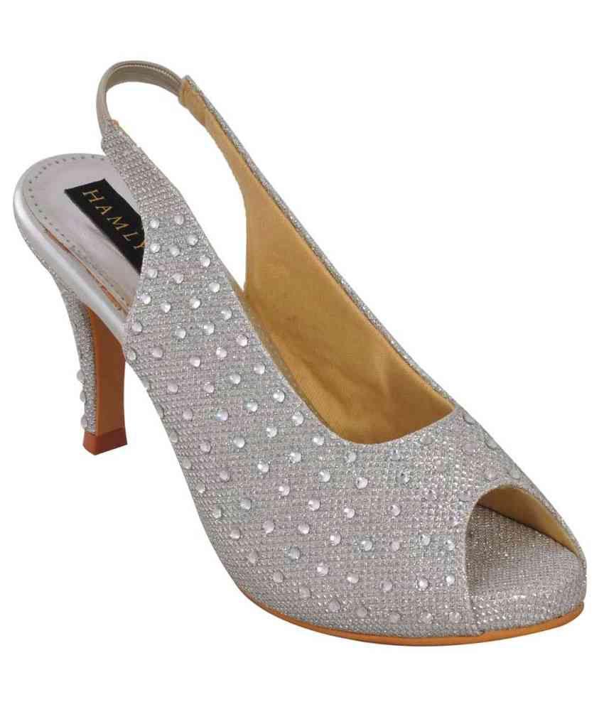 Hamlyn Shoes Silver Stiletto Heels