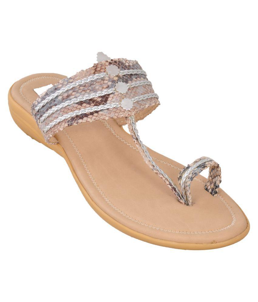 Hamlyn Shoes Beige Flats